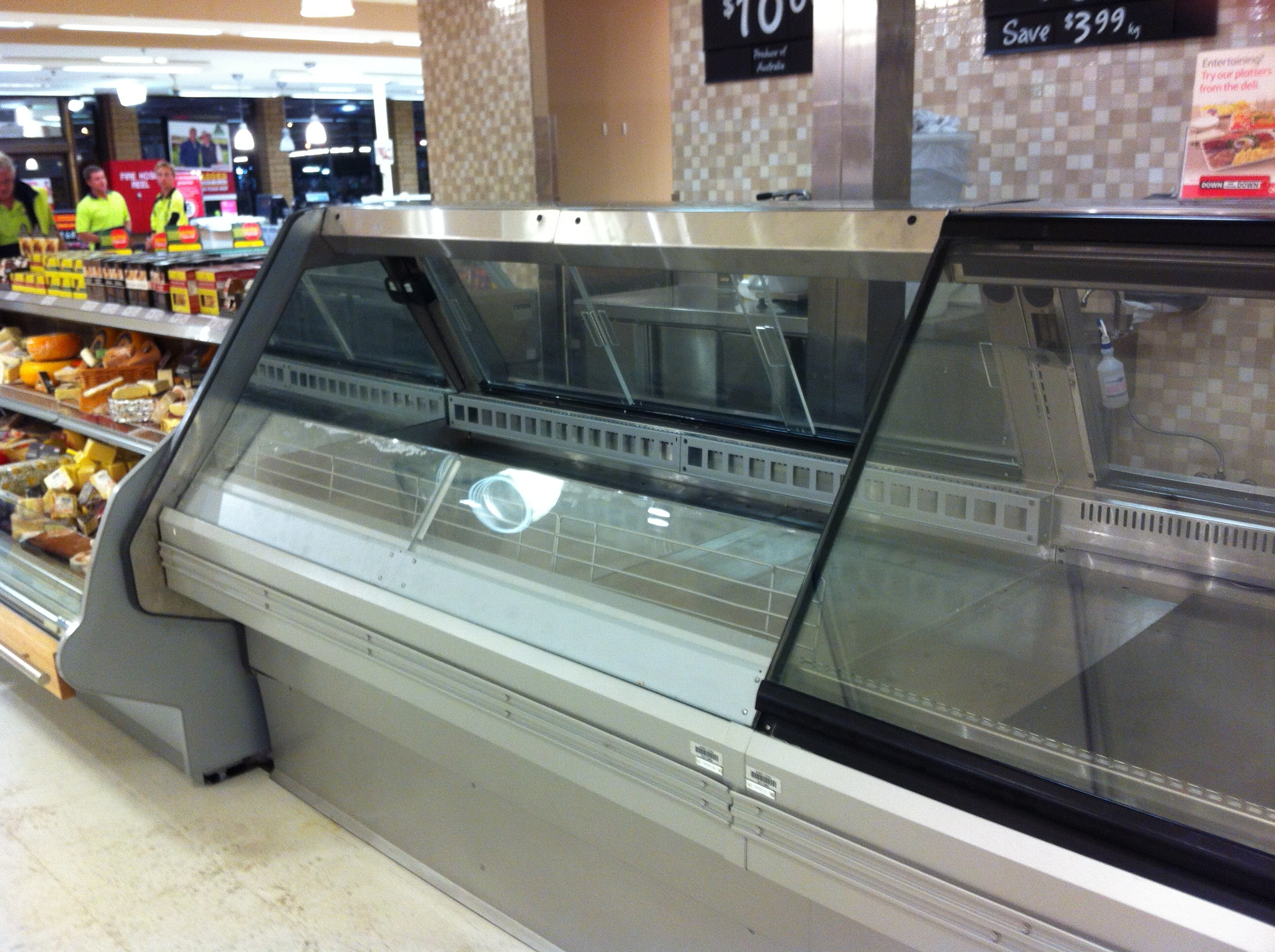 Deli case with electrostatic spray and fabrication works completed onsite