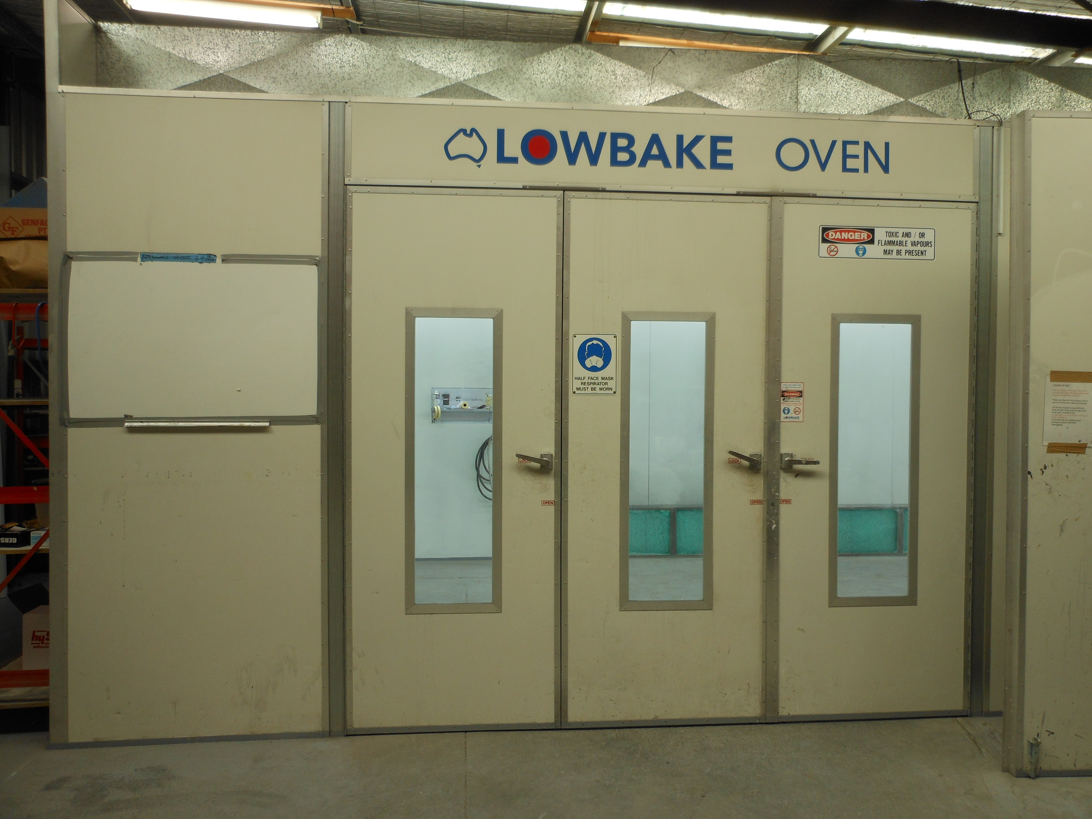 Specialised batch ovens for curing large items up to 5.2m x 2.2m